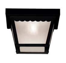 Savoy House 07044-BLK - Exterior Collections Flush Mount