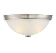 "Savoy House 6-780-11-SN - 11"" Flush Mount White Glass"