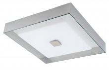 Stone Lighting CL351OPSNLED - Ceiling Mount Plaza Opal Glass Satin Nickel 120v 24w LED DOB 3000K