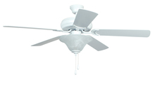 "Craftmade DCF52MWW5C1 - Decorator's Choice with Bowl Light Kit 52"" Ceiling Fan with Blades and Light in Matte White"