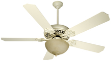 "Craftmade K10618 - Cecilia Unipack 52"" Ceiling Fan Kit with Light Kit in Antique White Distressed"