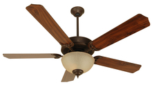"Craftmade K10626 - Pro Builder 202 52"" Ceiling Fan Kit with Light Kit in Aged Bronze Textured"