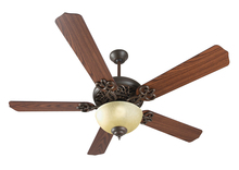 "Craftmade K11139 - Cecilia Unipack 52"" Ceiling Fan Kit with Light Kit in Aged Bronze Textured"