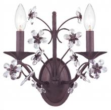 Crystorama 5402-DR - Crystorama Paris Market 2 Light Dark Rust Sconce II