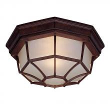 Acclaim Lighting 2002BW - Flushmount Collection Ceiling-Mount 2-Light Outdoor Burled Walnut Light Fixture