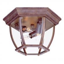 Acclaim Lighting 5602BW - Flushmount Collection Ceiling-Mount 3-Light Outdoor Burled Walnut Light Fixture