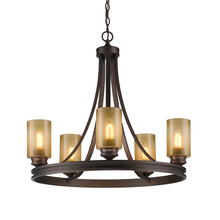 Golden 1051-5 SBZ - 5 Light Chandelier