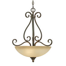 Golden 1567-3P PC - 3 Light Pendant