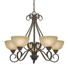 Golden 1567-5 PC - 5 Light Chandelier