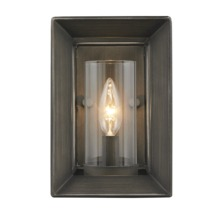 Golden 2073-1W GMT - 1 Light Wall Sconce (Gunmetal Bronze & Clear Glass)