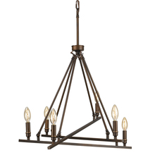 Golden 2360-6 RBZ - 6 Light Chandelier