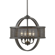 Golden 3167-4P EB-EB - 4 Light Chandelier (with shade)