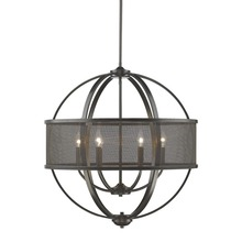 Golden 3167-6 EB-EB - 6 Light Chandelier (with shade)