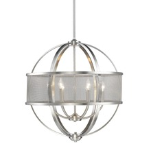 Golden 3167-6 PW-PW - 6 Light Chandelier (with shade)