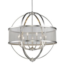 Golden 3167-9 PW-PW - 9 Light Chandelier (with shade)