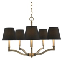 Golden 3500-5 AB-GRM - 5 Light Chandelier