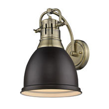 Golden 3602-1W AB-RBZ - 1 Light Wall Sconce
