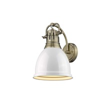 Golden 3602-1W AB-WH - 1 Light Wall Sconce