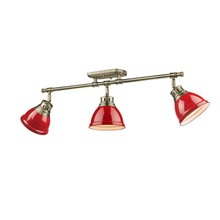 Golden 3602-3SF AB-RD - Semi-Flush - Track Light