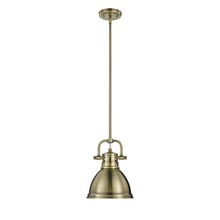Golden 3604-M1L AB-AB - Mini Pendant with Rod