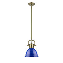 Golden 3604-M1L AB-BE - Mini Pendant with Rod