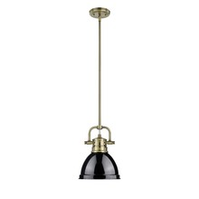 Golden 3604-M1L AB-BK - Mini Pendant with Rod