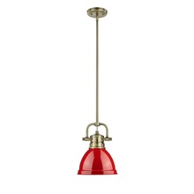 Golden 3604-M1L AB-RD - Mini Pendant with Rod