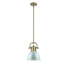 Golden 3604-M1L AB-SF - Mini Pendant with Rod
