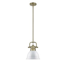 Golden 3604-M1L AB-WH - Mini Pendant with Rod