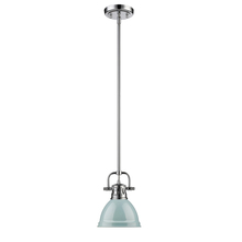 Golden 3604-M1L CH-SF - Mini Pendant with Rod