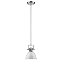 Golden 3604-M1L CH-WH - Mini Pendant with Rod
