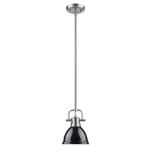 Golden 3604-M1L PW-BK - Mini Pendant with Rod