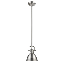 Golden 3604-M1L PW-PW - Mini Pendant with Rod