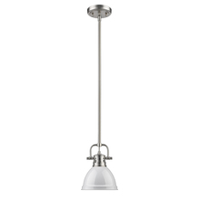 Golden 3604-M1L PW-WH - Mini Pendant with Rod