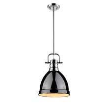 Golden 3604-S CH-BK - Small Pendant with Rod
