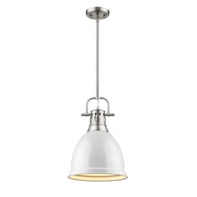 Golden 3604-S PW-WH - Small Pendant with Rod