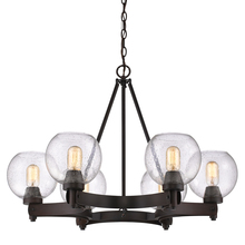 Golden 4855-6 RBZ-SD - 6 Light Chandelier