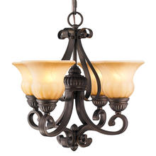 Golden 7116-GM4 LC - 4 Light Mini Chandelier