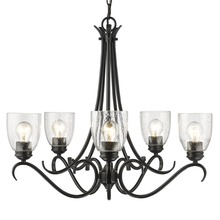 Golden 8001-5 BLK-SD - 5 Light Chandelier