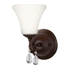 Sea Gull 4410501-710 - West Town One Light Wall / Bath Sconce in Burnt Sienna with Etched Glass Painted White Inside