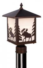 "Vaxcel International OP36985BBZ - Yellowstone 8"" Outdoor Post Light"