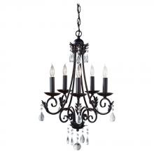 Feiss F2758/5BK - 5 - Light Single Tier Chandelier