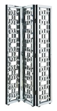 Elegant MF6-1018 - 3-Panel Room Divider Screen 72 in. x 48 in. in Silver paint