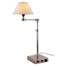 Elegant TL3006 - Brio Collection 1-Light Polished Nickel Finish Table Lamp