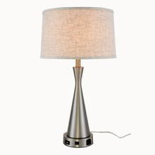Elegant TL3014 - Brio Collection 1-Light Vintage Nickel Finish Table Lamp