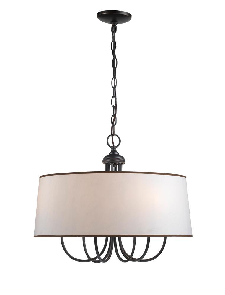 Six light bronze drum shade chandelier wi133629 salt box lighting six light bronze drum shade chandelier aloadofball Images