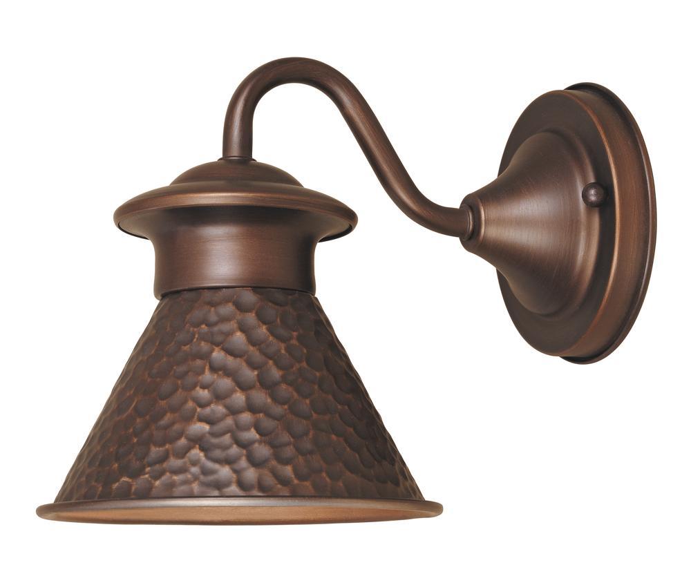 Marvelous Dark Sky Essen 1 Light Outdoor Antique Copper Short Arm Wall Lamp