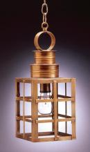 Northeast Lantern 5132-DAB-MED-CLR - Can Top H-Bars Hanging Dark Antique Brass Medium Base Socket Clear Glass