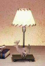 "Meyda Tiffany 49799 - 13""H Lone Deer Faux Leather Accent Lamp"