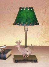 "Meyda Tiffany 50611 - 13""H Lone Deer Faux Leather Accent Lamp"